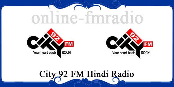 City 92 FM Hindi radio