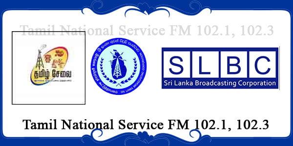 Tamil National Service FM 102.1, 102.3
