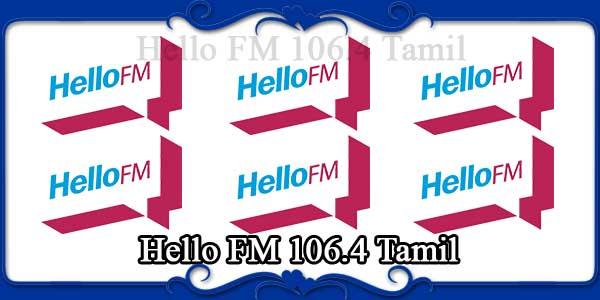 Hello FM 106.4 Tamil