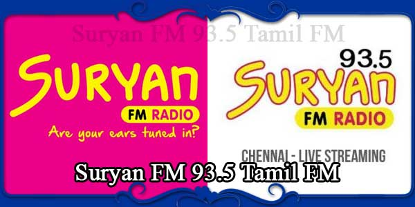 Suryan FM 93.5 Tamil FM