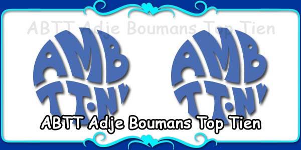 ABTT Adje Boumans Top Tien