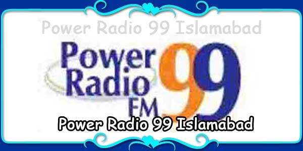 Power Radio 99 Islamabad